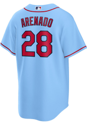 Nolan Arenado St Louis Cardinals Mens Replica Alternate Jersey - Light Blue