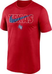 Nike Texas Rangers Red City Swoosh Legend Short Sleeve T Shirt