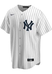New York Yankees Mens Nike Replica Home Replica Jersey - White