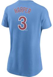 Bryce Harper Philadelphia Phillies Womens Light Blue Player Player T-Shirt
