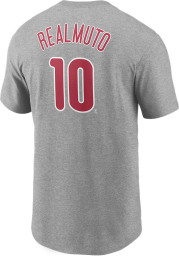 JT Realmuto Philadelphia Phillies Charcoal Name Number Short Sleeve Player T Shirt