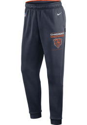 Nike Chicago Bears Mens Navy Blue Therma Pants