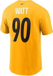 TJ Watt Pittsburgh Steelers White Name And Number Short Sleeve Player T Shirt