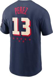 Salvador Perez Kansas City Royals Navy Blue All Star Game Short Sleeve Player T Shirt