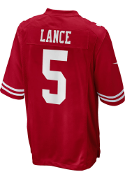 Trey Lance Nike San Francisco 49ers Red Home Game Football Jersey