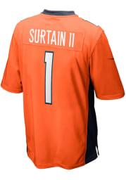 Patrick Surtain Nike Denver Broncos Orange Home Game Football Jersey