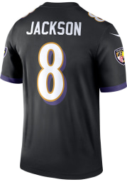 Lamar Jackson Nike Baltimore Ravens Black Alternate Legend Football Jersey