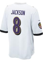 Lamar Jackson Nike Baltimore Ravens White Road Game Football Jersey