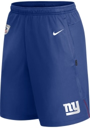 Nike New York Giants Mens Blue Coach Knit Shorts
