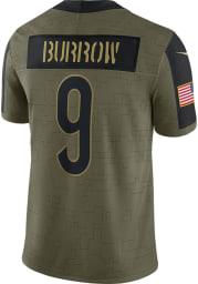 Joe Burrow Nike Cincinnati Bengals Mens Olive Salute To Service Limited Football Jersey