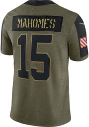Patrick Mahomes Nike Kansas City Chiefs Mens Olive Salute To Service Limited Football Jersey