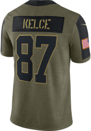Travis Kelce Nike Kansas City Chiefs Mens Olive Salute To Service Limited Football Jersey
