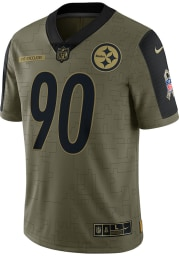 TJ Watt Nike Pittsburgh Steelers Mens Olive Salute To Service Limited Football Jersey