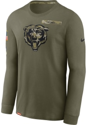 Nike Chicago Bears Olive Salute To Service Long Sleeve T-Shirt