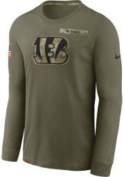 Nike Cincinnati Bengals Olive Salute To Service Long Sleeve T-Shirt