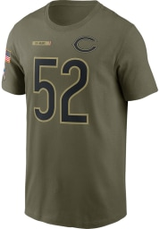 Khalil Mack Chicago Bears Olive Salute To Service Short Sleeve Player T Shirt