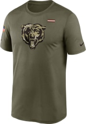Nike Chicago Bears Olive Salute To Service Short Sleeve T Shirt