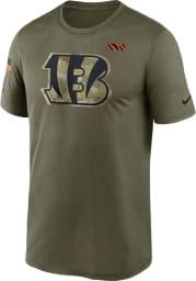Nike Cincinnati Bengals Olive Salute To Service Short Sleeve T Shirt