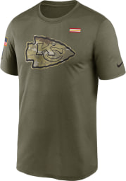 Nike Kansas City Chiefs Olive Salute To Service Short Sleeve T Shirt