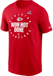 Nike Kansas City Chiefs Red 2020 Division Champs Short Sleeve T Shirt
