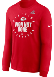 Nike Kansas City Chiefs Red 2020 Division Champs Long Sleeve T Shirt