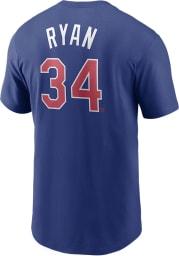 Nolan Ryan Texas Rangers Blue Coop Name And Number Short Sleeve Player T Shirt