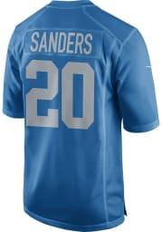 Barry Sanders Nike Detroit Lions Blue Alternate Game Football Jersey