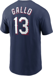 Joey Gallo Texas Rangers Navy Blue Name Number Short Sleeve Player T Shirt