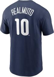 JT Realmuto Philadelphia Phillies Navy Blue Name Number Short Sleeve Player T Shirt