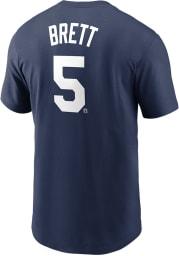 George Brett Kansas City Royals Navy Blue Name Number Short Sleeve Player T Shirt