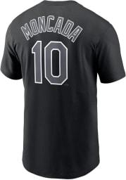Yoan Moncada Chicago White Sox Black Refresh Name Number Short Sleeve Player T Shirt
