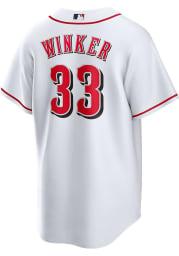 Jesse Winker Cincinnati Reds Mens Replica Home Replica Jersey - White