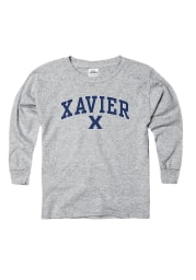 Xavier Musketeers Youth Grey Logo Mark Long Sleeve T-Shirt