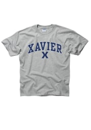 Xavier Musketeers Youth Grey Arch Mascot Short Sleeve T-Shirt