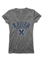 Xavier Musketeers Juniors Grey Ageless V-Neck T-Shirt