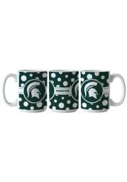 Michigan State Spartans 15oz Dot Ceramic Mug