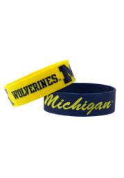 Michigan Wolverines 2 Pack Silicone Kids Bracelet