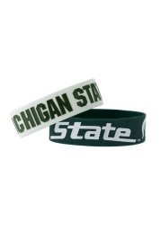 Michigan State Spartans 2 Pack Silicone Kids Bracelet