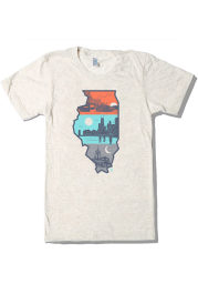 Bozz Prints Chicago Natural Layers of Illinois Short Sleeve T Shirt