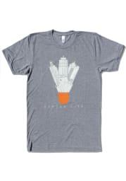 Bozz Prints Kansas City Grey Icons Shuttlecock Short Sleeve T Shirt