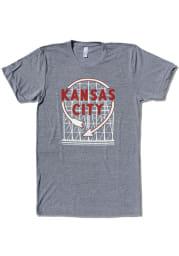 Bozz Prints Kansas City Grey Western Auto Sign Short Sleeve T Shirt