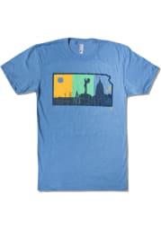 Bozz Prints Kansas Light Blue Layers Short Sleeve T Shirt