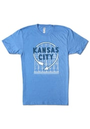Bozz Prints Kansas City Blue Western Auto Sign Short Sleeve T Shirt