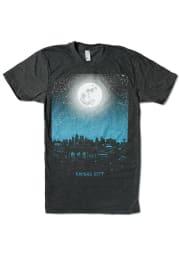 Bozz Prints Kansas City Heather Black Night Sky Moon Short Sleeve T-Shirt