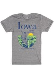 Bozz Prints Iowa Grey Come For The Fields Short Sleeve Fashion T Shirt