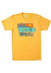 Bozz Prints Iowa Gold Layers of Iowa Short Sleeve Fashion T Shirt
