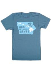 Bozz Prints Iowa Blue Hawaii Backwards Short Sleeve Fashion T Shirt