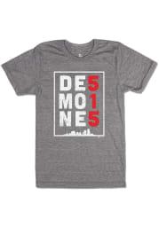 Bozz Prints Des Moines Grey 515.0 Short Sleeve Fashion T Shirt