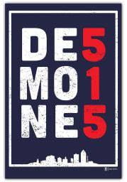 Des Moines 515.0 Postcard