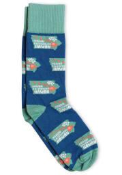 Iowa Bozz Prints Hawaii Backward Mens Crew Socks
